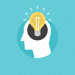 account, bulb, businessman, creative, eureka, human, idea, illustration, imagination, light, lightbulb, male, man, manager, person, process, sign, success, think icon