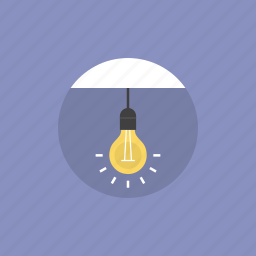 bright, bulb, creative, electric, electricity, energy, idea, illustration, lamp, light, lightbulb, power, shine icon
