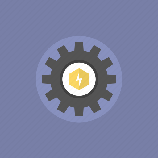 charge, cogwheel, configuration, control, electric, electricity, energy, gear, illustration, industry, manufacturing, mechanism, options, power, preferences, production, settings, system, tool, tools, work icon