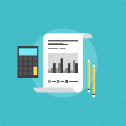 accounting, business, calculator, chart, document, ecommerce, file, finance, financial, graph, illustration, internet, numbers, office, page, paper, report, seo, statistics, web icon