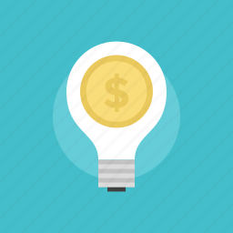 business, cash, concept, currency, dollar, ecommerce, finance, financial, idea, illustration, innovation, internet, lightbulb, market, marketing, money, payment, price, seo, shop, shopping, web icon