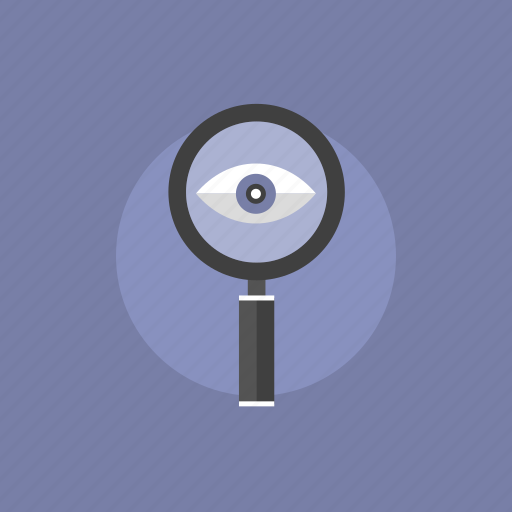 communication, eye, find, glass, illustration, internet, lens, look, looking, magnifier, magnifying, optimization, search, searching, view, web, zoom icon