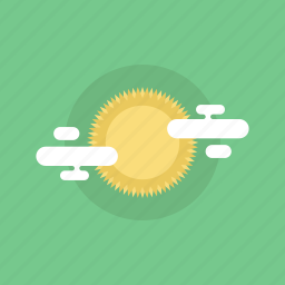 cloud, cloudy, energy, forecast, illustration, light, natural, shine, solar, summer, sun, sunny, warm, weather icon