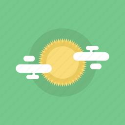 cloud, cloudy, energy, forecast, illustration, light, natural, shine, solar, summer, sun, sunny, warm, weather icon