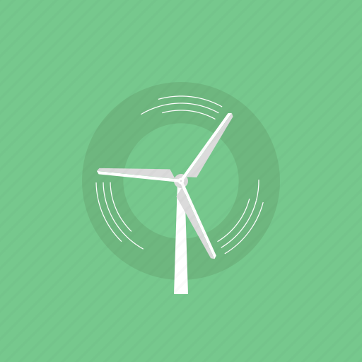 clean, eco, ecology, electric, electricity, energy, environment, green, illustration, plant, power, production, renewable, source, turbine, wind icon