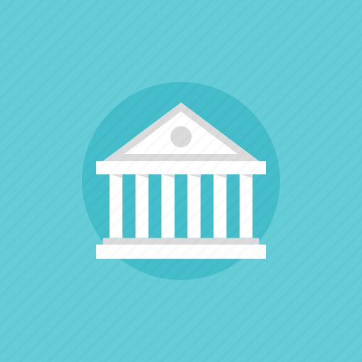 architecture, bank, banking, building, business, cash, classic, ecommerce, finance, financial, government, illustration, institute, money, office icon