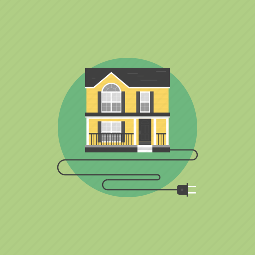 architecture, building, communication, connection, creative, electric, electricity, energy, home, house, illustration, internet, line, network, office, plug, power, resource, smart, source, wire icon
