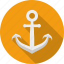 anchor, link, nautical, naval, sailing, sailor, tattoo icon