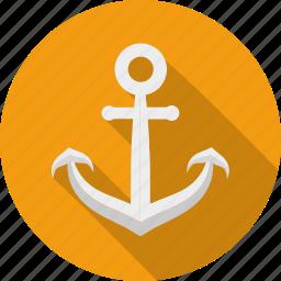 anchor, link, nautical, naval, sailing, sailor, tattoo icon