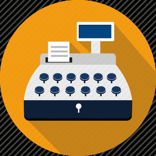 cash, cashier, machine, money, pay, register, shopping icon