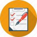 clipboard, contract, poll, questionnaire, survey icon