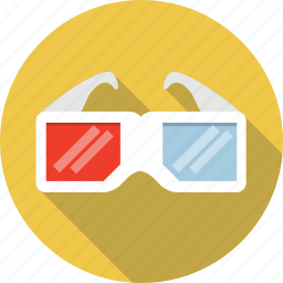 3d, cinema, film, glasses, movie, three-dimensional icon