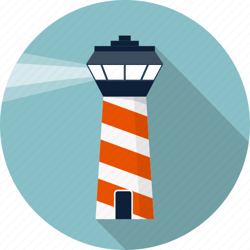 airport, direction, guide, house, lighthouse, sea, tower icon