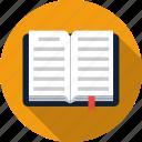 book, bookmark, open icon