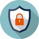 antivirus, lock, padlock, protection, safe, security, shield icon