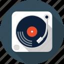 audio, dj, multimedia, music, sound, turntable, vinyl icon