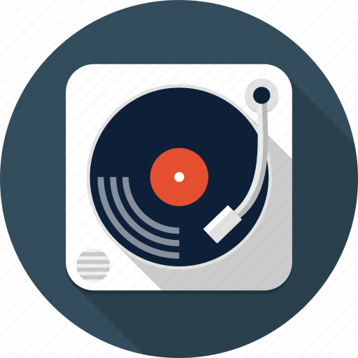 audio, dj, multimedia, music, sound, turntable, vinyl icon