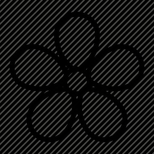 bloom, flower, violet icon