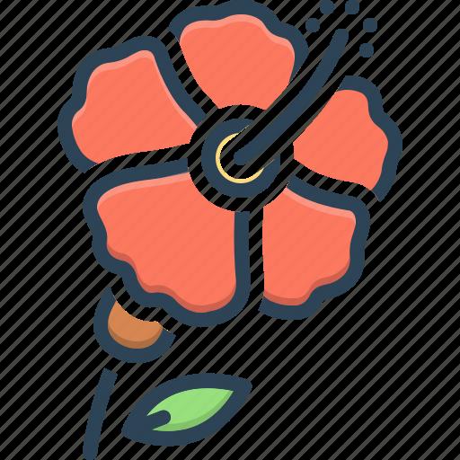 Carmine, flower, hawaii, hibiscus, malvaceae, petal, pistil icon - Download on Iconfinder