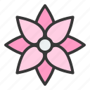 bloom, blossom, floral, flower, petal, spa icon