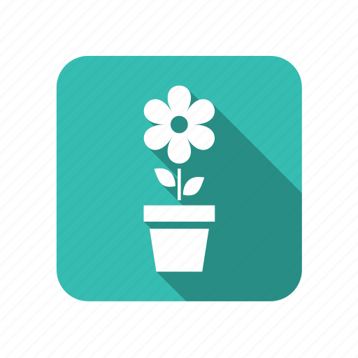 eco, ecology, environment, flower, leaf, nature, potted plant icon