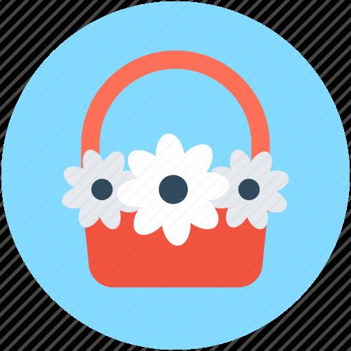 Basket, bouquet, flower hamper, flowers basket, gift basket icon - Download on Iconfinder