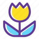 bloom, blossom, flower, flowering, flowers, plant, tulip icon