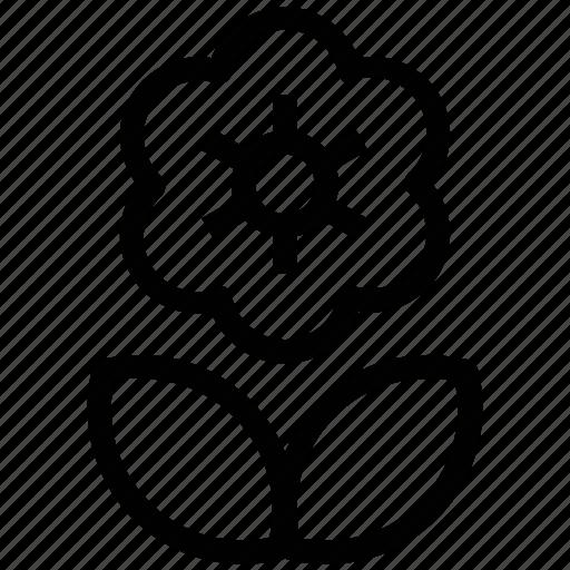 created flower, creative, flower, round flower icon