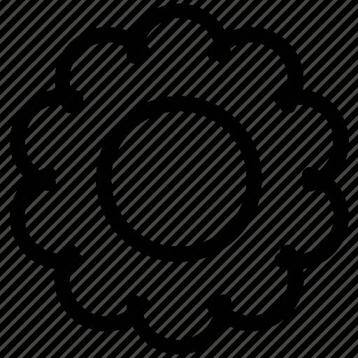 circle pattern, creative, design, filigree, flower, round, shape icon
