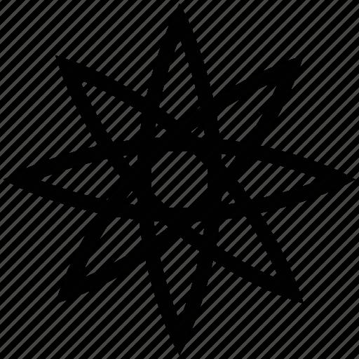 creative, design, flower shape, graphic, ornament icon