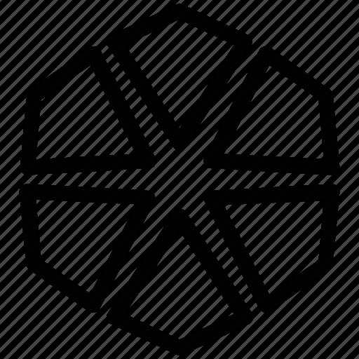 design, hexagon, hexagonal shape, hexagonal shaped flower icon