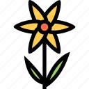flower, flowerbed, garden, plant icon
