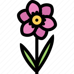 flower, flowerbed, garden, narcissus, plant icon