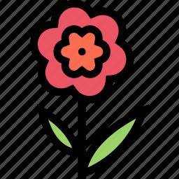 flower, flowerbed, garden, plant icon