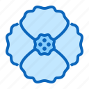 blossom, flower, poppy icon