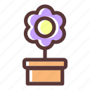 bloom, blossom, flower, flowering, flowers, plant, pot icon