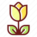 bloom, blossom, floral, flower, flowering, plant, tulip icon