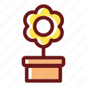 bloom, blossom, floral, flower, flowering, plant, pot icon
