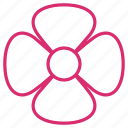 abstract, bloom, floral, flower, garden, orchid, petals icon
