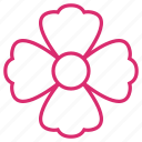 abstract, bloom, floral, flower, flowers, nature, spring icon