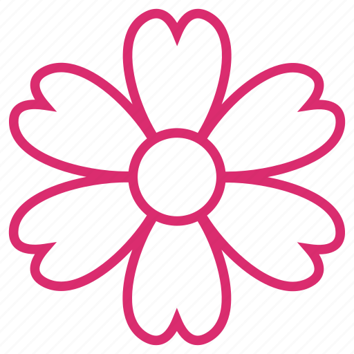 abstract, bloom, clover, daisy, floral, flower, nature icon