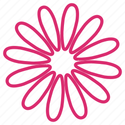 abstract, bloom, daisy, floral, flower, flowers, spring icon