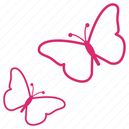 butterfly, butterflys, flower, garden, nature, spring icon
