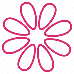 abstract, bloom, daisy, decoration, floral, flower, petals icon