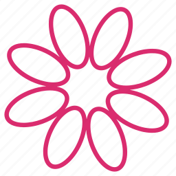 abstract, bloom, celebration, decoration, floral, flower, petals icon