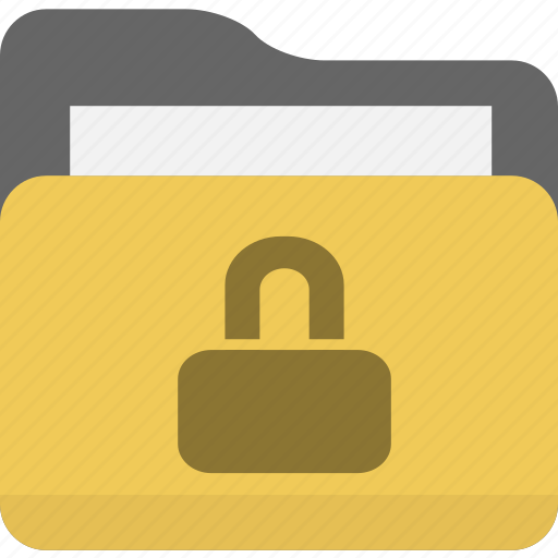folder, lock, locked, password, protect, protection, safe, safety, secure, security icon