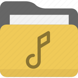 audio, folder, media, music icon