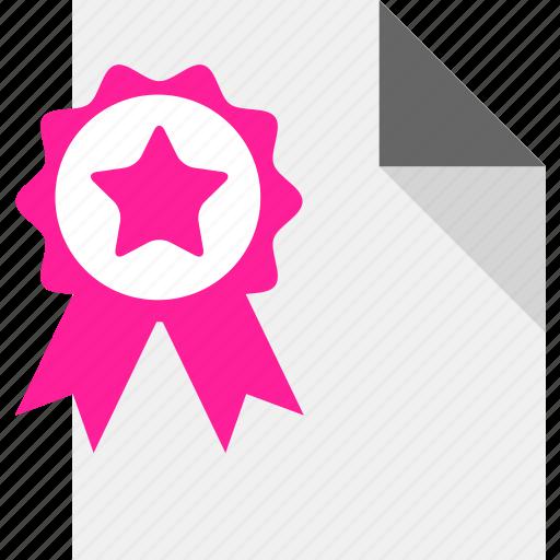 certificate, license icon