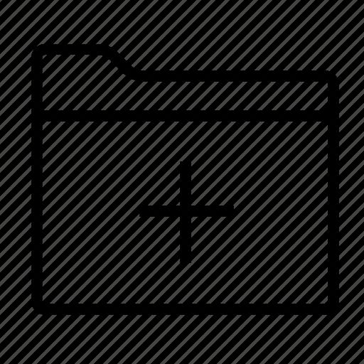 add, add folder, document, documents, files, folder, folders icon