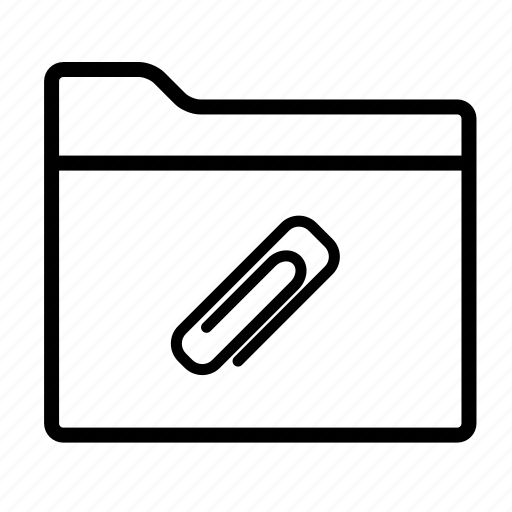 attach, attach file, attachment, attachment folder, documents, folder, folders icon